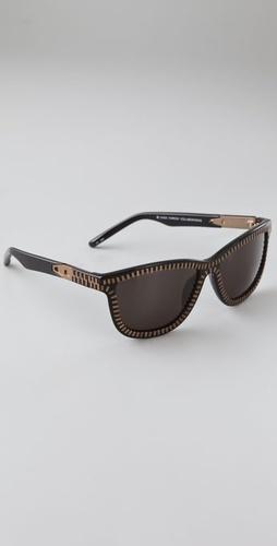 Alexander Wang Zipper Frame Sunglasses: Love the shape, LOVE the zippers! Too cool.