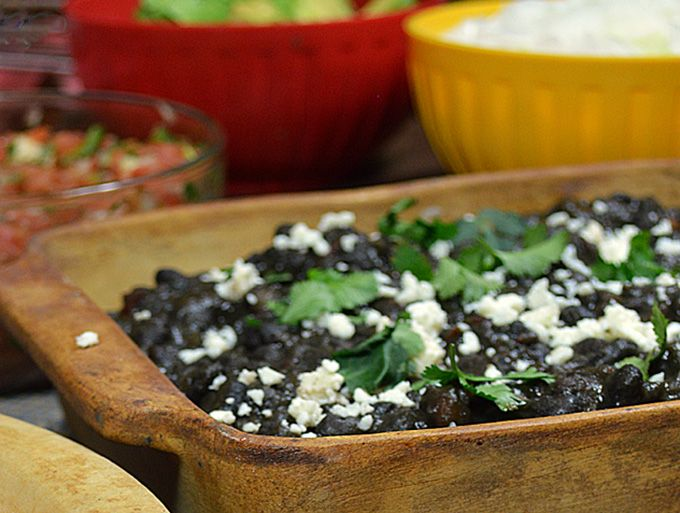 Frijoles Negros and Modelo: Black beans, slowly simmered with Negro ...