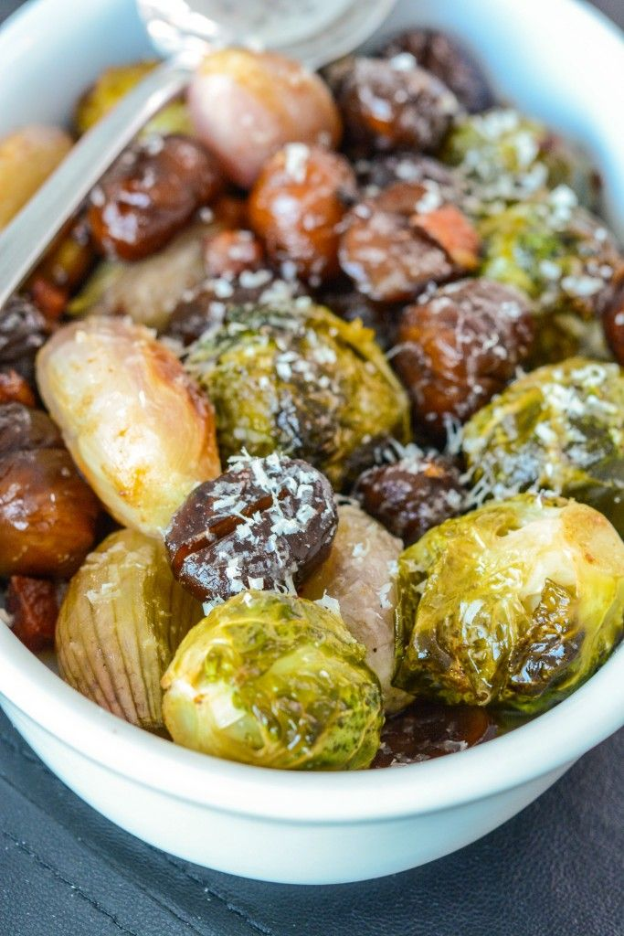 Roasted Brussel Sprouts - roast the brussel sprouts and leeks and put ...