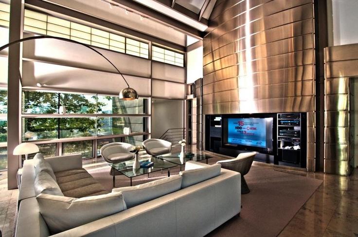 high tech living room  L O U N G E  Pinterest