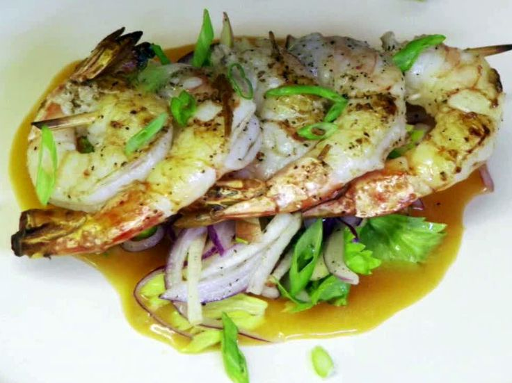 Sauteed Shrimp, Spicy BBQ, Apple Slaw from FoodNetwork.com