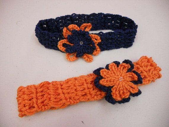 Free Crochet Pattern For Chicago Bears C : Chicago Bears Crochet Headband