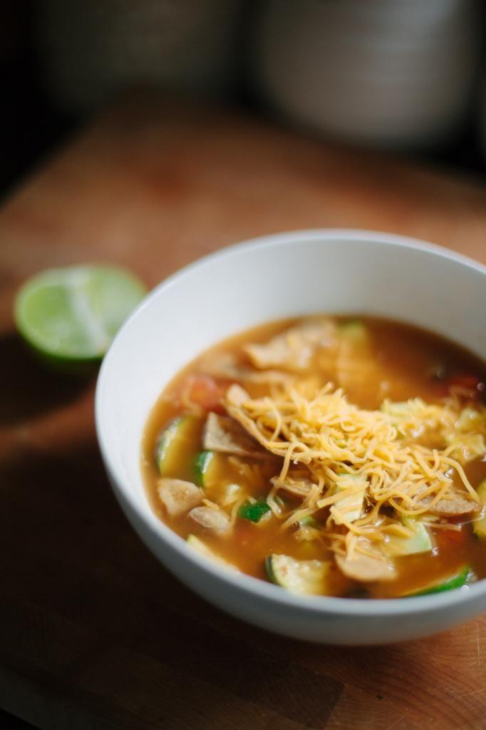 Vegetarian Tortilla Soup | Noms | Pinterest