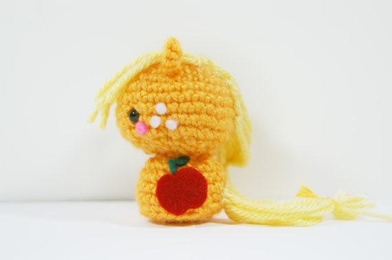 Crochet Applejack My Little Pony Amigurumi Toy