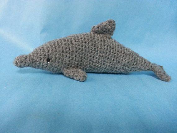 Crochet Amigurumi Dolphin Pattern : Bottlenose Dolphin Amigurumi Crochet Pattern w/ Juvenile PDF