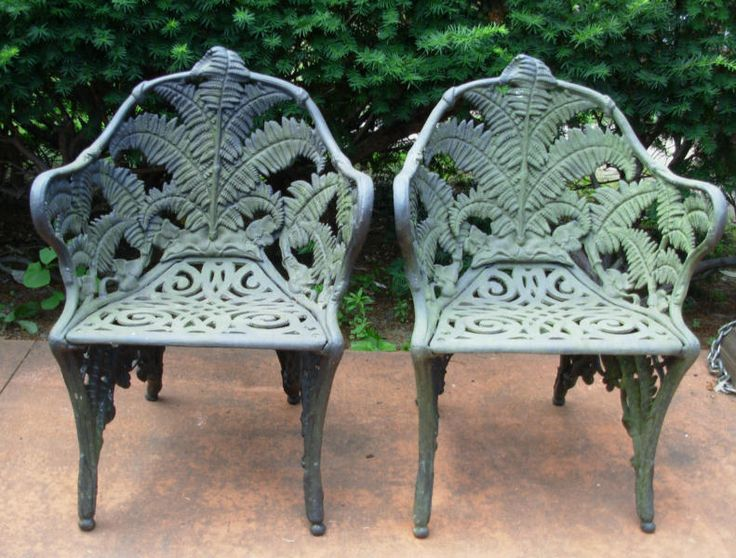 Antique cast iron chairs interior safari pinterest Cast iron garden furniture