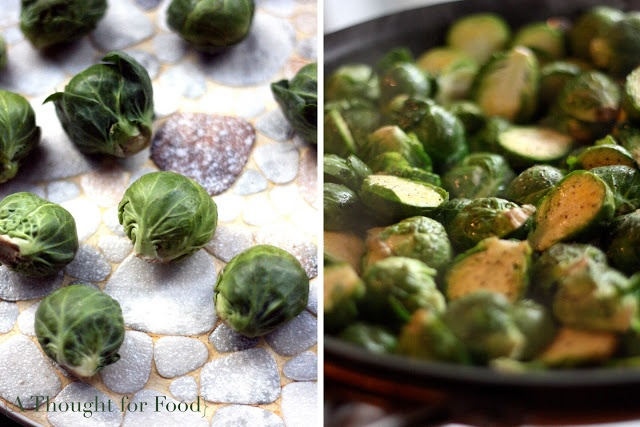 Recipe: Brussels Sprouts with Canellini Beans and Almonds}