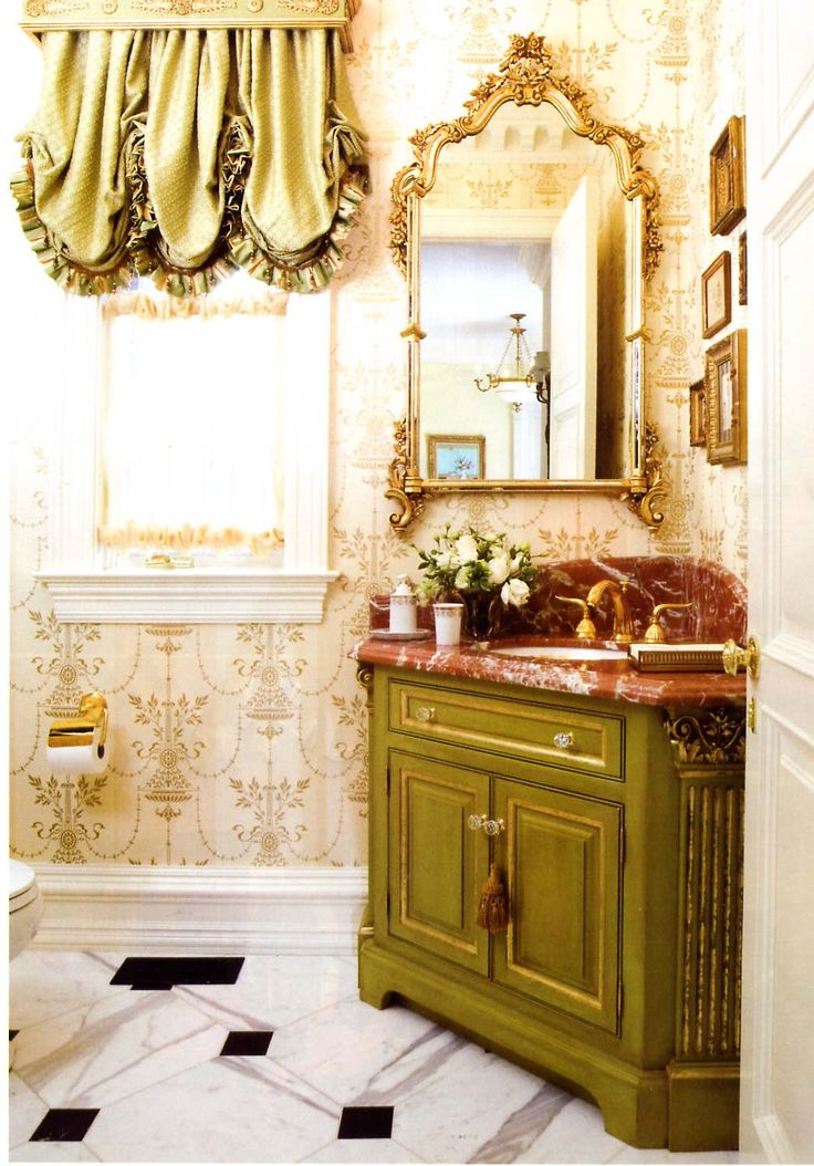 Sally bacarella design bathrooms pinterest for 1940s window treatments