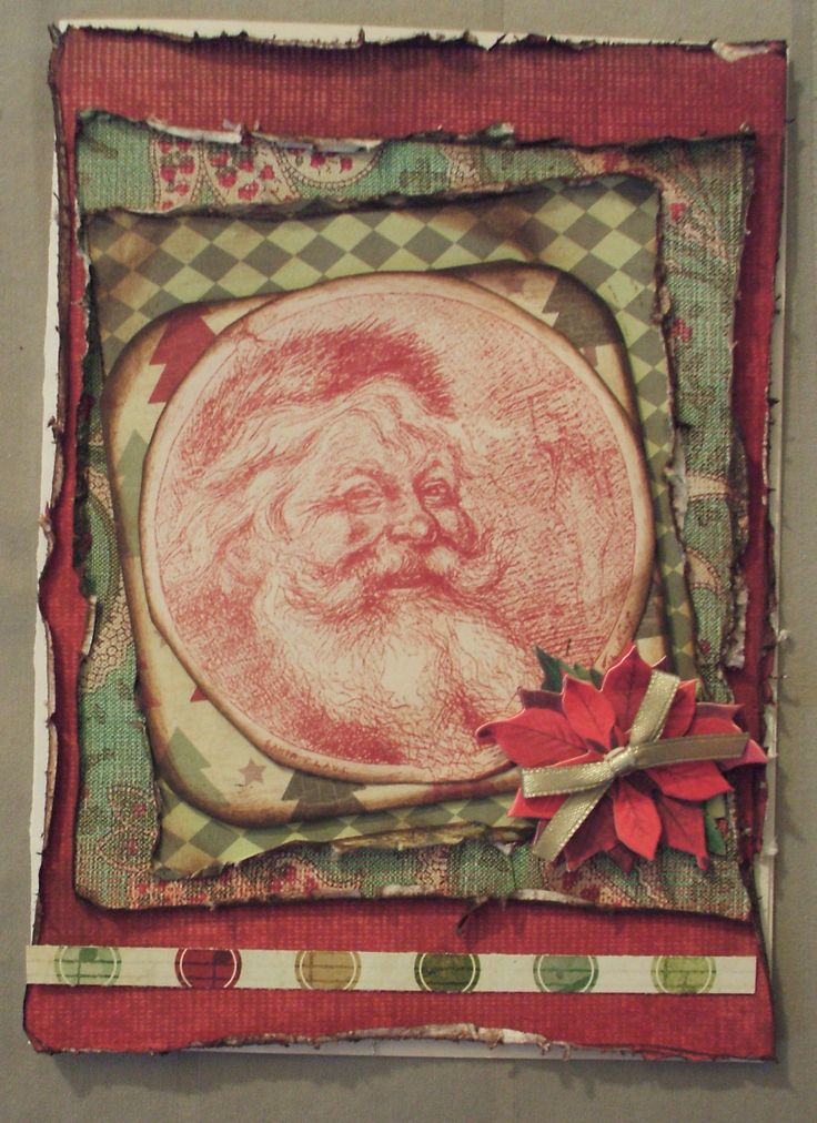 Santa Christmas card 2013 ..using the Distrezz by Zutter for the ...