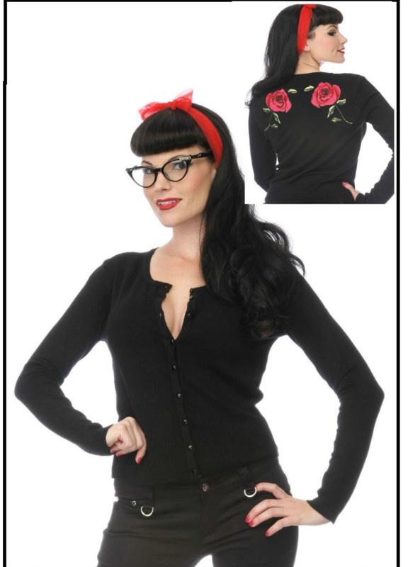 Voodoo Vixen Rose Cardigan