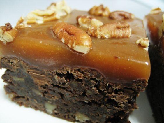 Ultimate Turtle Brownies   Desserts - Cookies and Bars   Pinterest