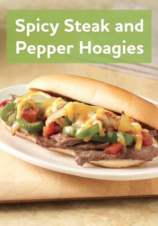 This Spicy Steak and Pepper Hoagies is simple and easy to make, and ...