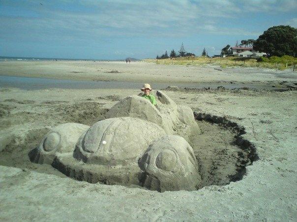 Waihi New Zealand  city photos : sand car on Waihi Beach, New Zealand | My travels | Pinterest