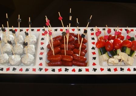 Casino party finger foods