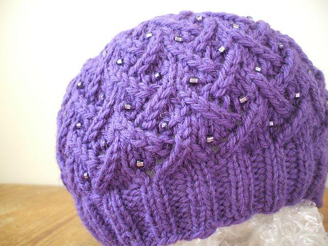 Free Lotus Hat pattern Knitting Pinterest