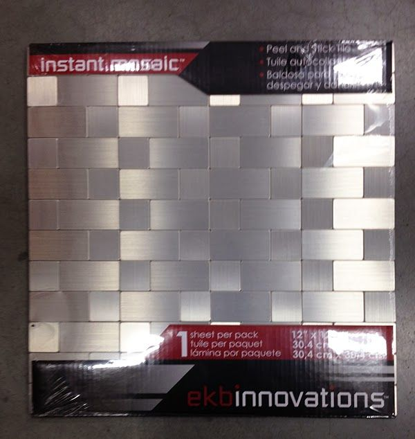 instant mosaic stainless peel stick tiles easy light weight