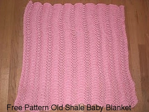 Old Shale Baby Blanket Free Knit Pattern FREE KNIT BABY BLANKETS