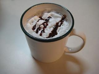 Hot Vanilla...nice twist on hot chocolate