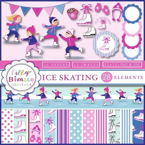 Ice Skate Paper Pattern