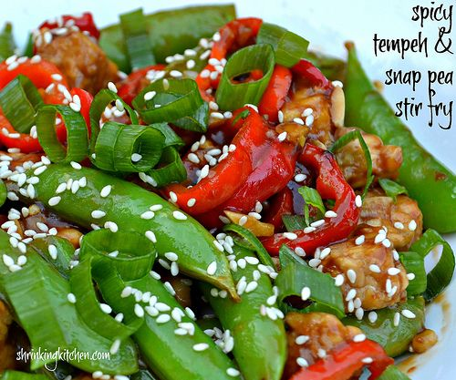Spicy Tempeh & Snap Peas Stir Fry #ShrinkingKitchen I've never used ...