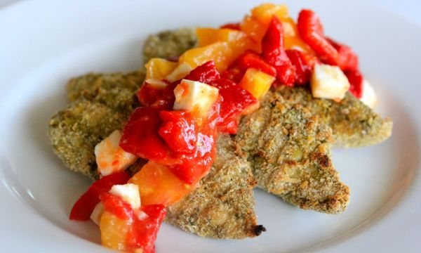 Kale Pesto Dipped Chicken Tenders | Poultry Recipes | Pinterest