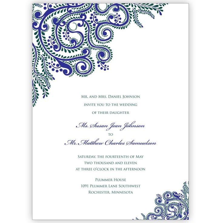 Printable Wedding Invitations Indian Wedding Invitations Digital File