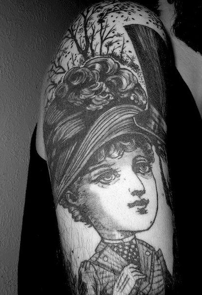cameo tattoo, victorian tattoo on arm | tattoos ☠ | Pinterest