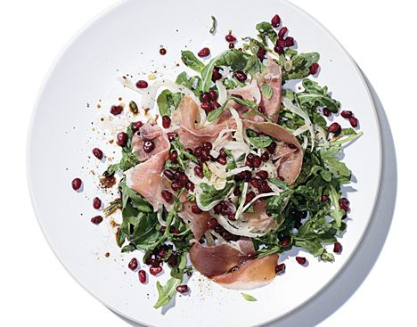 Mediterranean Salad with Prosciutto and Pomegranate fennel, olive oil ...