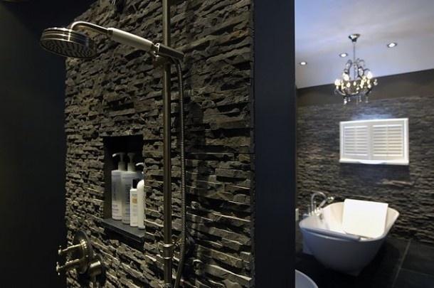 laminaat muur badkamer: laminaat plafond schilderen: custom d, Badkamer