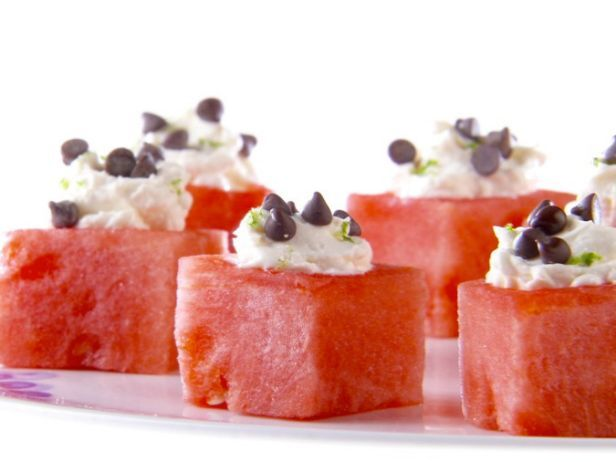 As seen on Giada at Home: Mascarpone-Filled Watermelon #Giada #Watermelon #Marscapone #SummerDessert