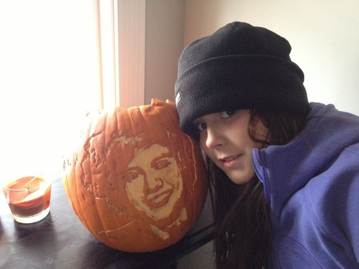 Awesome harry styles pumpkin carving halloween