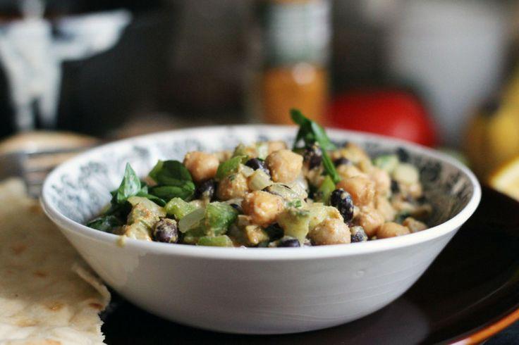 Warm cumin chick pea salad | salads and jellos | Pinterest