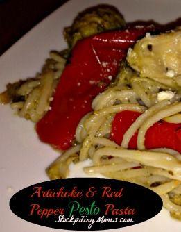 Artichoke & Red Pepper Pesto Pasta | Recipe