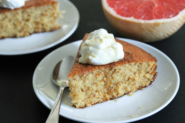 Grapefruit and Honey Cake with Yogurt Recipe