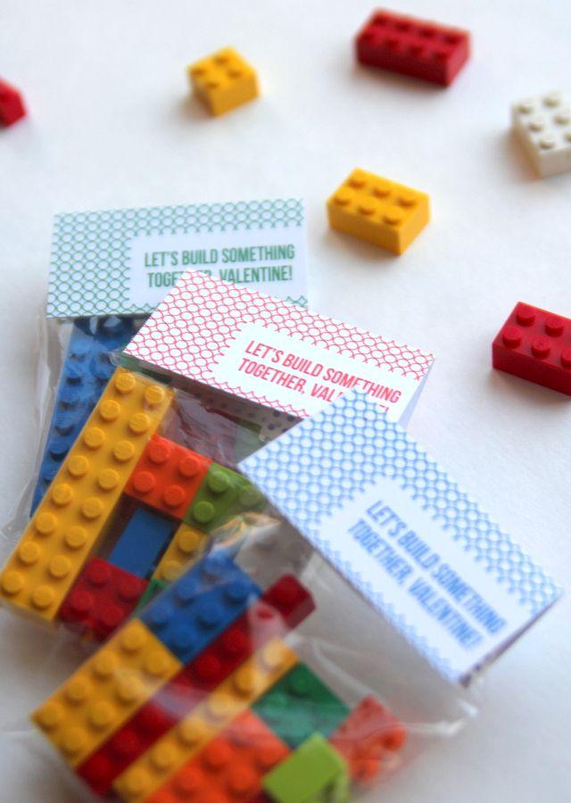 """Let's build something together, Valentine!"" Valentine's Day lego packet"