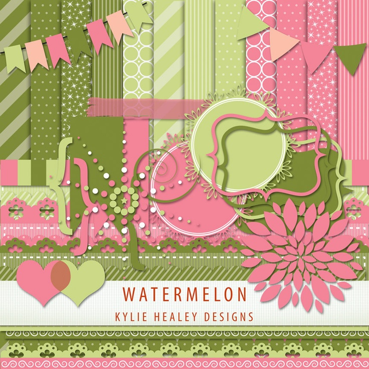 pink watermelon paper plates