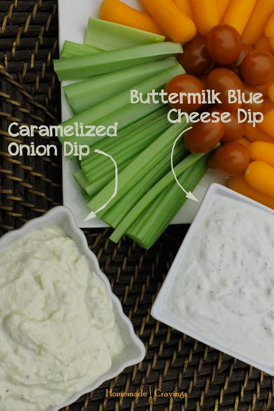 Caramelized Onion and Buttermilk Blue Cheese Dip