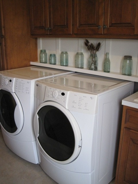 hide the washer dryer hook ups laundry room pinterest