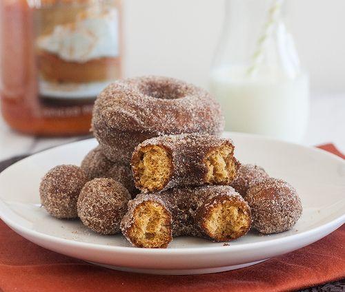 Tracey's Culinary Adventures: Cinnamon-Sugar Gingerbread Doughnuts