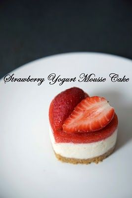 Strawberry Yogurt Mousse Cake, Valentine | Celebrate {Valentine's Day ...
