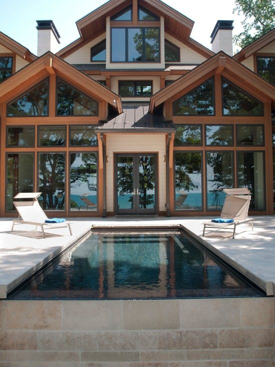 Pool Traditional Japanese Home Design Architecture