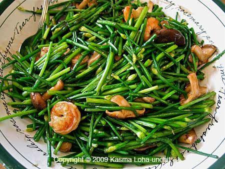 Stir-fried Garlic Chives   Recipes   Pinterest