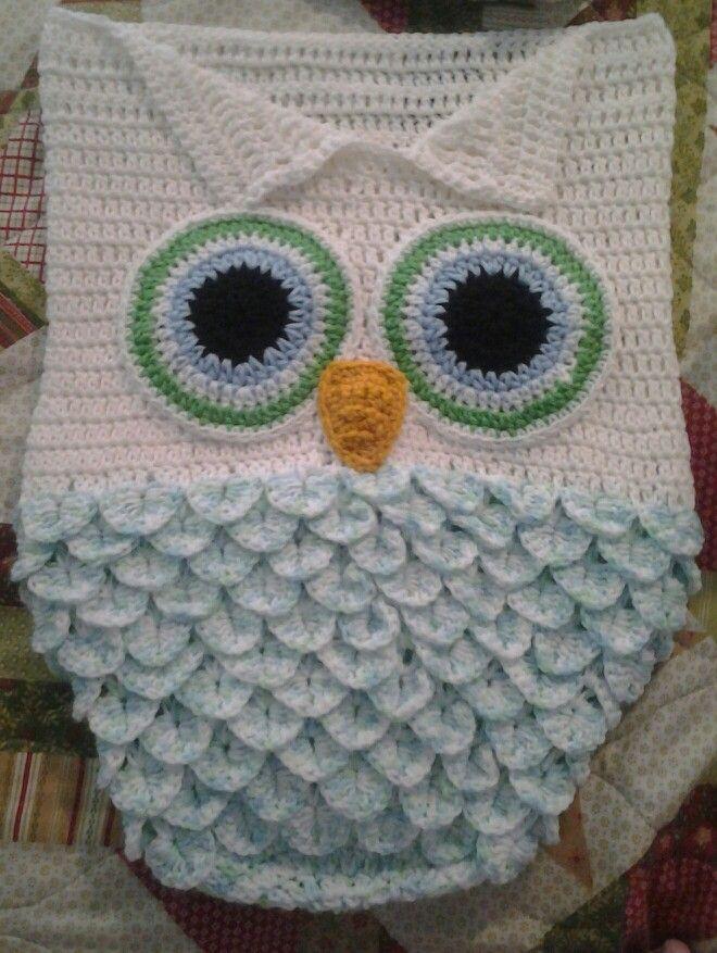 Crochet Owl Cocoon Pattern : Owl cocoon handmade yarn things Pinterest