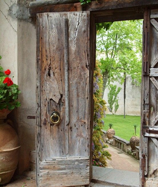 Old doors leading to a walled garden  luthienthye:    Me . Want . Door