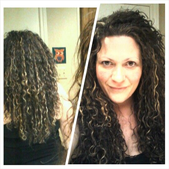 My new hair style...naturally curly with high and low lights. She went ...