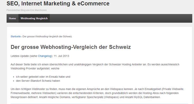 Www marchionni ch webhosting vergleich was ist das beste webhosting