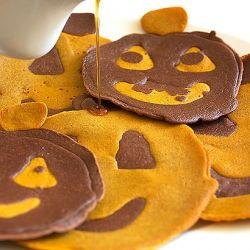 Pumpkin chocolate pancakes   PUMPKIN RECIPES   Pinterest
