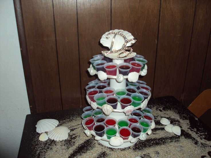 jello shot wedding cake one day i did do it again pinterest