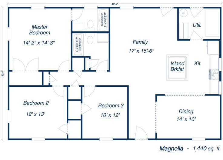 The magnolia steel home kit steel frame home plans for Metal building homes floor plans