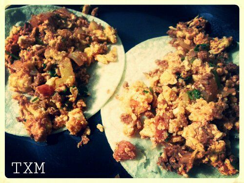 Egg & Soy Chorizo Breakfast Tacos | Butter & Bubbles | Pinterest